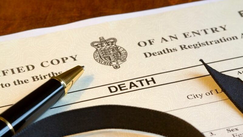 Early step you must take once someone has died to avoid committing an offence